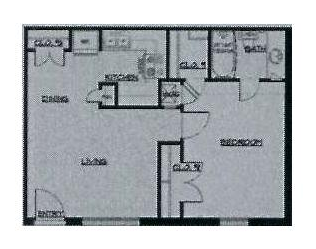 544 sq. ft. 50% floor plan