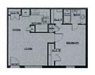 544 sq. ft. 50% floor plan