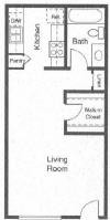 440 sq. ft. Monarch floor plan