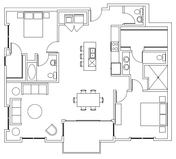 1,413 sq. ft. Overton floor plan