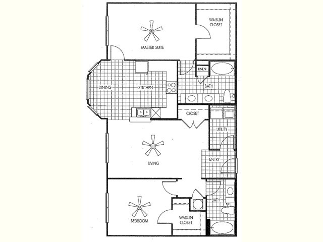1,332 sq. ft. floor plan