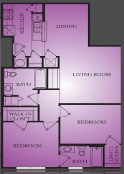 1,000 sq. ft. Caldwell floor plan