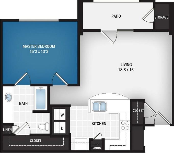 854 sq. ft. Orion floor plan
