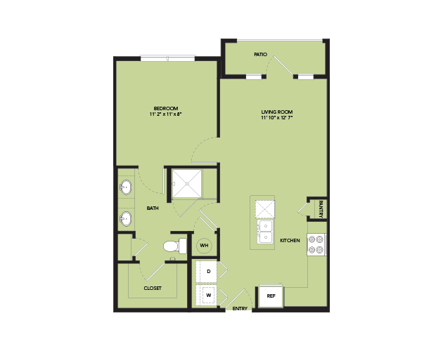 657 sq. ft. A2-IS.9 floor plan