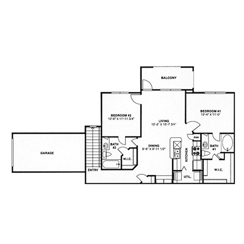 984 sq. ft. D3,D4/60% floor plan
