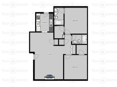 1,042 sq. ft. 109/209 floor plan