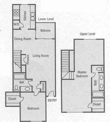 1,280 sq. ft. E floor plan