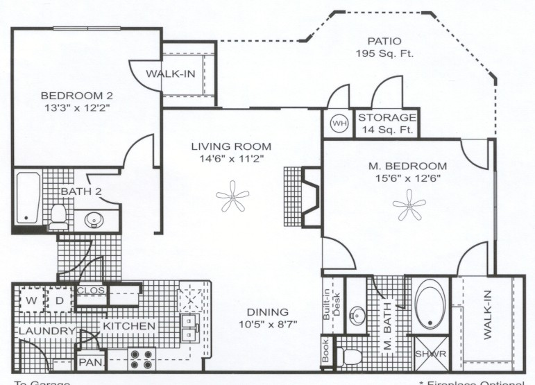 1,181 sq. ft. B6 floor plan