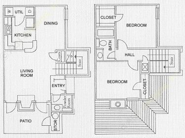 987 sq. ft. Trinidad floor plan