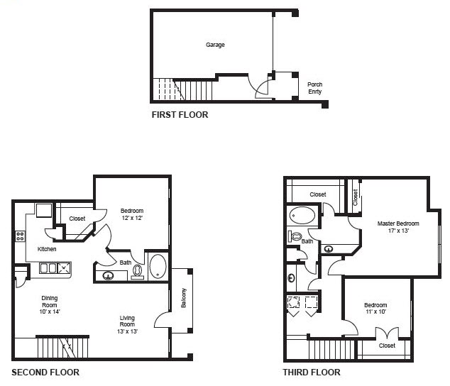 1,514 sq. ft. C1-Garage floor plan