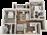 960 sq. ft. B1-60% floor plan