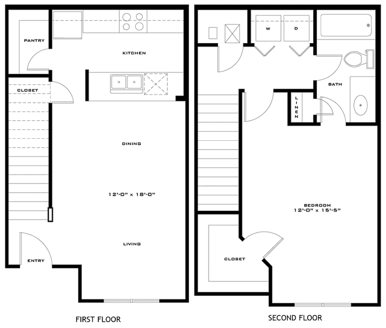 787 sq. ft. McAllister 60% floor plan