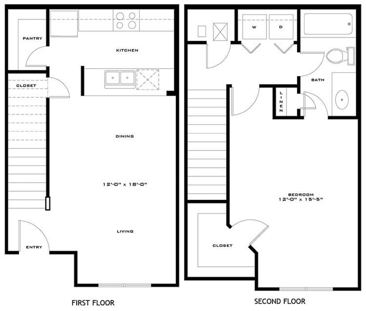 787 sq. ft. McAllister 60% floor plan