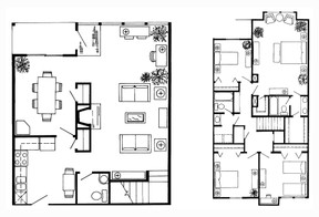 1,958 sq. ft. G Townhome floor plan