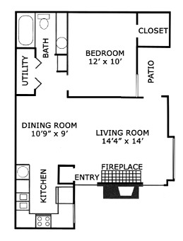 678 sq. ft. A3/50% floor plan