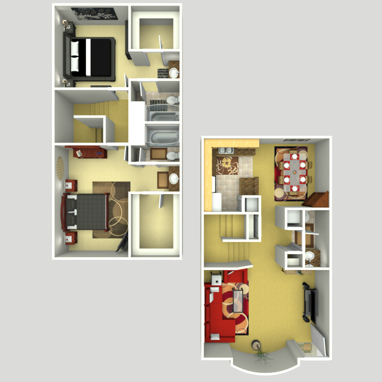 1,200 sq. ft. G floor plan