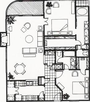 1,289 sq. ft. D floor plan