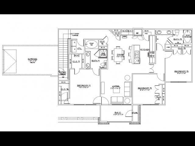 1,426 sq. ft. C2.2 floor plan