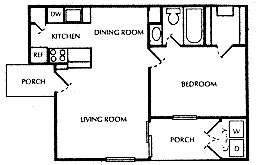 548 sq. ft. B floor plan