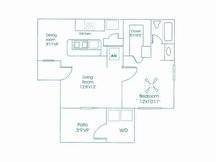597 sq. ft. floor plan
