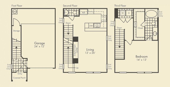 997 sq. ft. Grandview floor plan