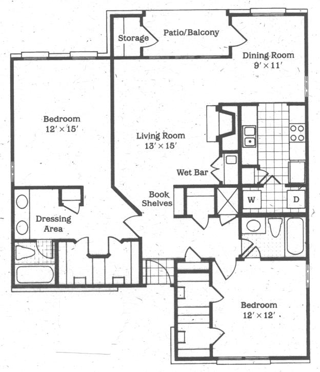 1,235 sq. ft. Bonnet floor plan