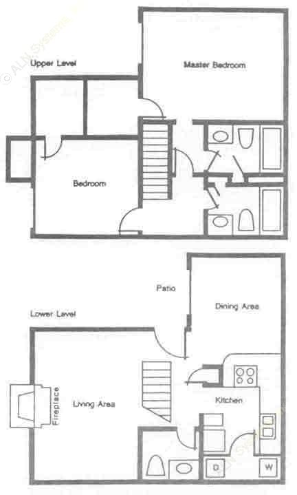 1,132 sq. ft. SB1 floor plan