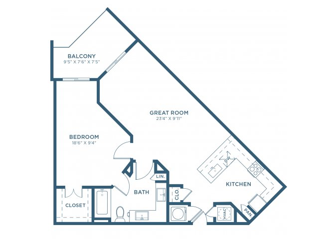 841 sq. ft. A7 floor plan