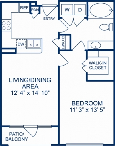 698 sq. ft. BIRMINGHAM floor plan