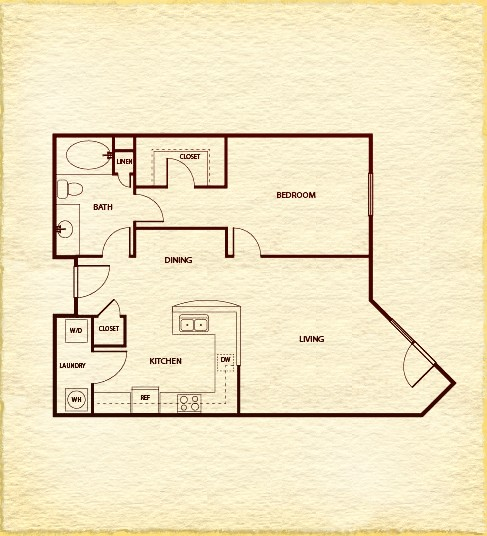 831 sq. ft. A420 floor plan