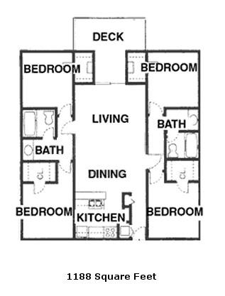 1,188 sq. ft. floor plan