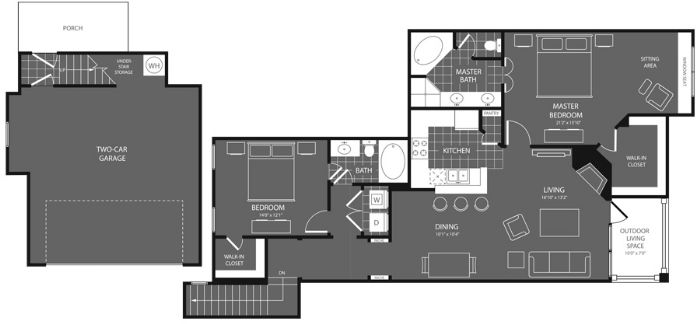 1,364 sq. ft. Elm floor plan