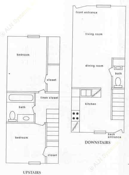 900 sq. ft. BTH floor plan