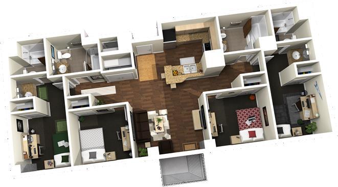 1,388 sq. ft. floor plan