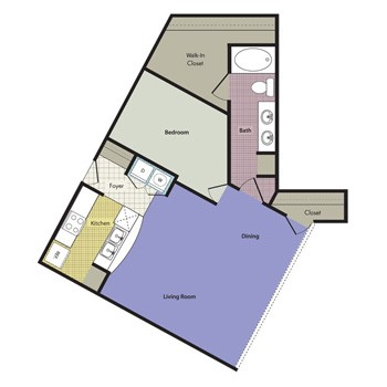 999 sq. ft. Barcellona floor plan