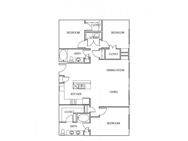 1,550 sq. ft. C2 floor plan