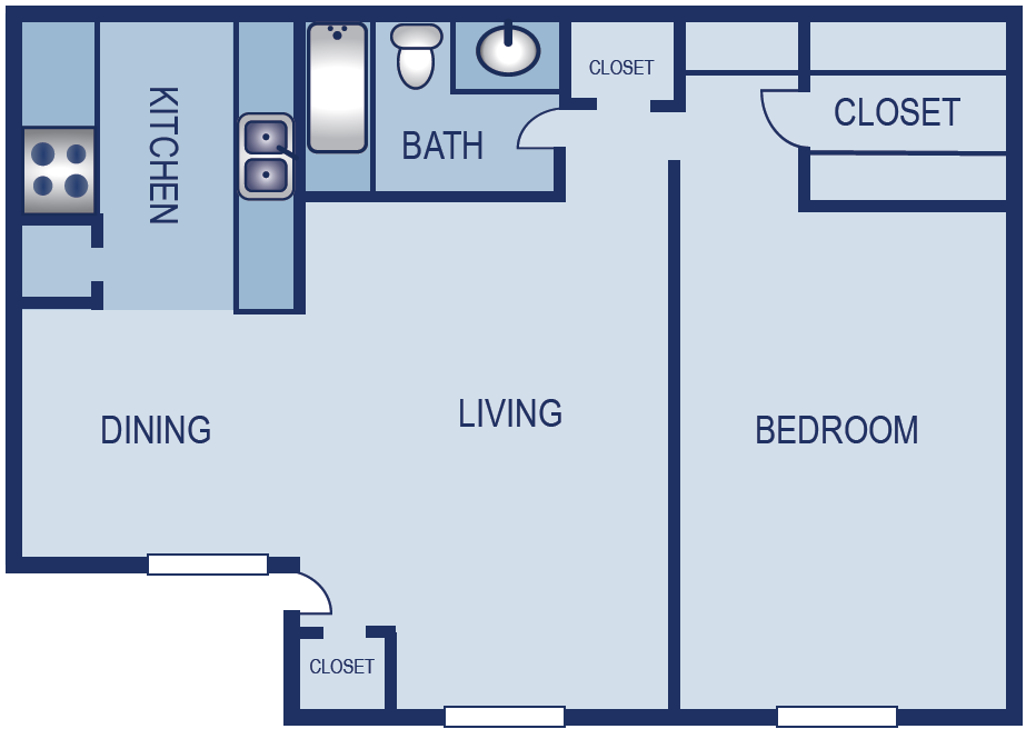 703 sq. ft. A4 floor plan