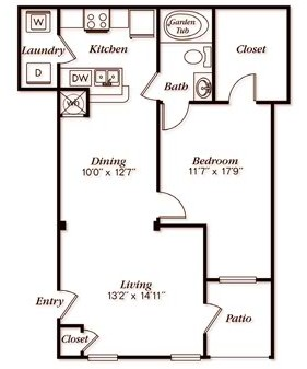 828 sq. ft. A31 floor plan