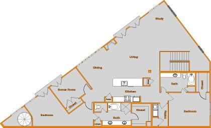 2,311 sq. ft. FLAT 4 floor plan