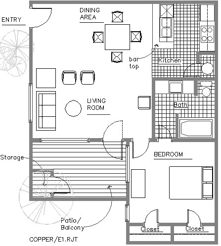 485 sq. ft. floor plan
