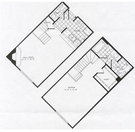 894 sq. ft. floor plan