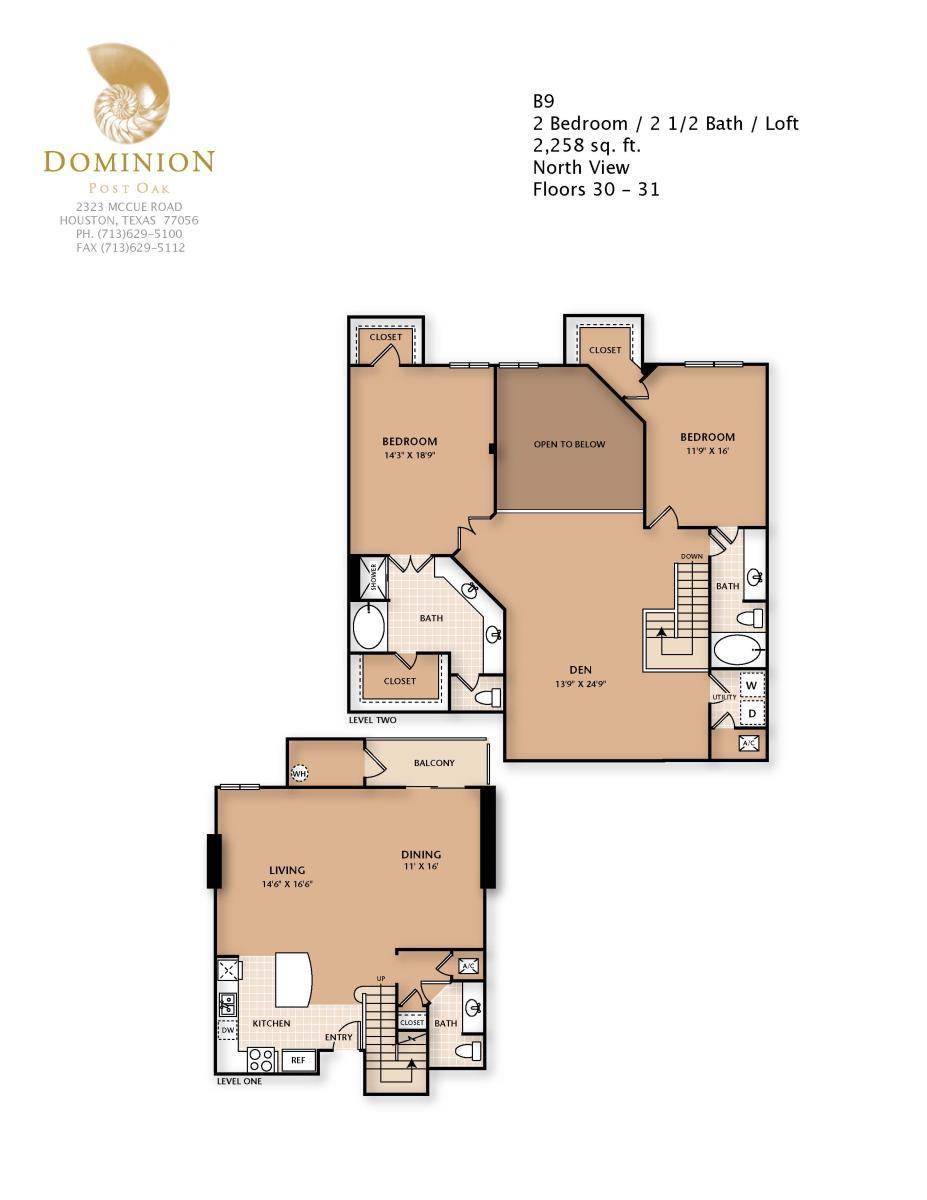 2,258 sq. ft. B9/PENTHSE floor plan