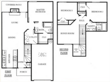 1,438 sq. ft. 60% floor plan