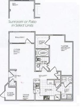 850 sq. ft. A 60% floor plan