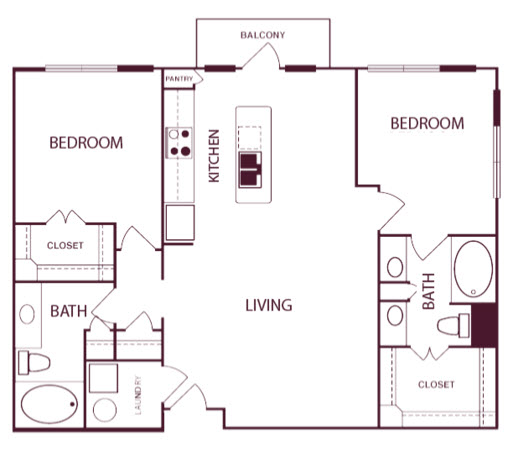 1,147 sq. ft. B1A floor plan