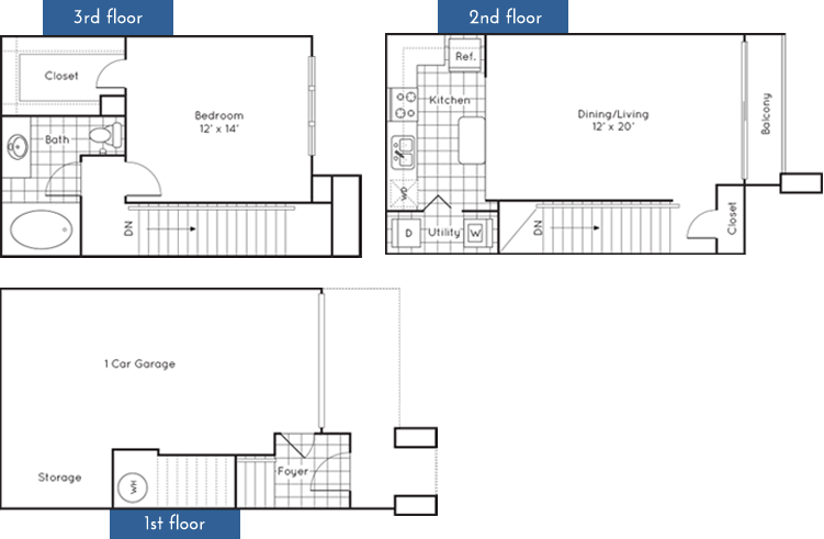 826 sq. ft. to 859 sq. ft. floor plan