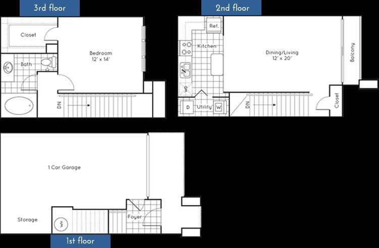 826 sq. ft. to 859 sq. ft. floor plan