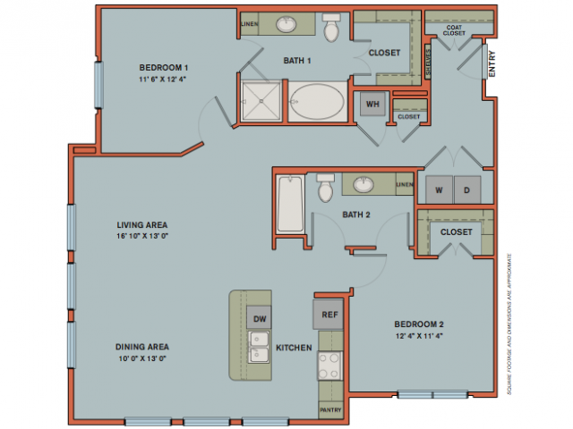 1,243 sq. ft. B9 floor plan