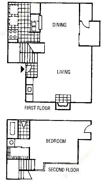 845 sq. ft. A23-A floor plan