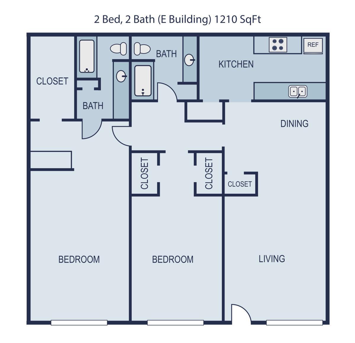 1,210 sq. ft. Presley floor plan